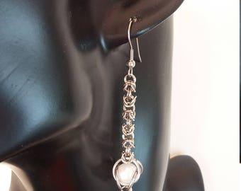 Earrings Cliff Hanger - Imitation pearl - White