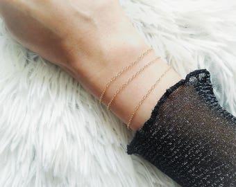 Gold Bracelet, Gold Fill Bracelet, Gold Chain Bracelet, Dainty Bracelet, Delicate Bracelet, Dainty Layering Bracelet, Stacking Bracelet