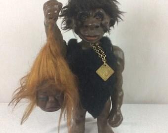 1960's Heico Nodder Caveman Troll Doll Bobblehead
