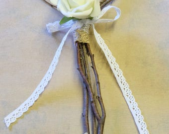 heart shaped rustic wand for flower girl