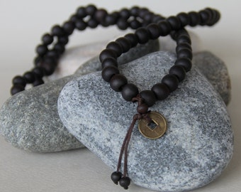 man necklace pearls real sandalwood from India