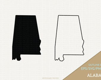 Alabama Vector, State Clipart, AL Clip Art, Alabama SVG, State PNG  (Design 13756)