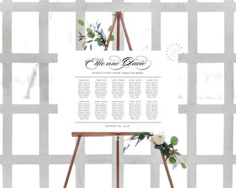 Printable Seating Chart || Wedding, Decor, Signs, Custom, Simple, Elegant