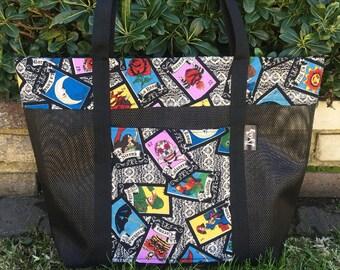 La Loteria Reusable Tote Bag, Shopping Bag, Beach Bag, Market Bag, Everyday Tote bag