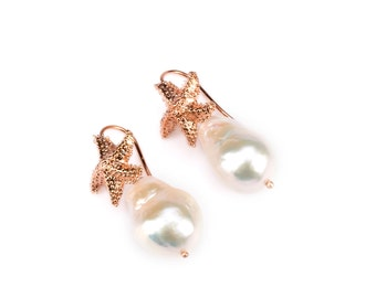 Starfish and Pearl earrings
