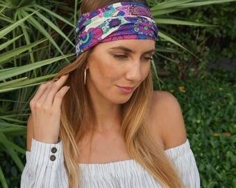 Yoga Headband / Workout Headband / Running Headband / Womens Headbands / Wide Headband / Yoga Head Wrap / Boho Headband / Hippie Headband /