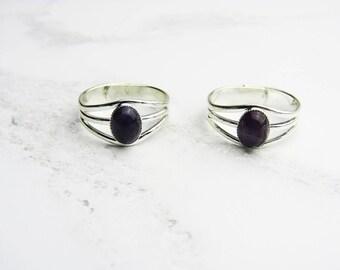 Silver Amethyst Ring, Adjustable Ring, Gemstone Ring, Amethyst Silver Plated Ring, Amethyst Ring, Amethyst Gemstone, Purple Ring, Gifts