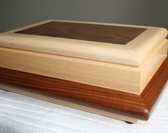 Wood Jewelry Box, Valet boxWooden Jewelry Box, Keepsake box, Jewelry Storage box