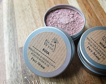 Rose Face Mask (Kaolin Face Mask, Clay Face Mask, Normal Skin Mask, Face Mask Powder)