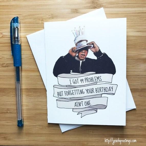 Jay-Z Birthday Card Funny Birthday Card Birthday Card Jay Z