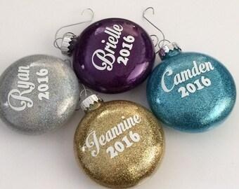 Personalized Name Ornament, Name Ornament, Custom Ornament, Personalized Ornament, Christmas ornament, Disc Ornament