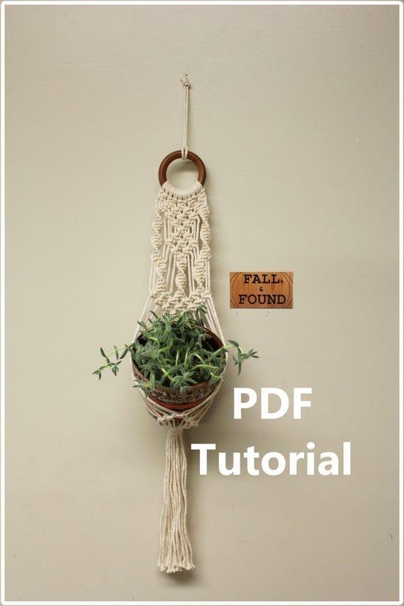 Macrame Plant Hanger Pattern - PDF Tutorial Download