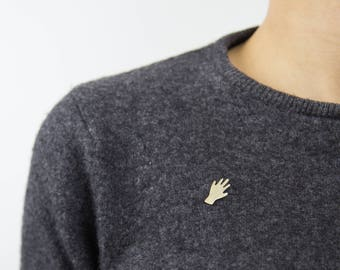 Pin's «Hand» - Collection NU - Pink Gold - Hand-made