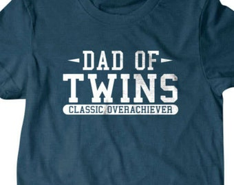 Twins T-shirt, Dad of twins Funny T shirt, surprise pregnancy gift for dad, Funny T Shirts for Men, T Shirts for Husband, Gifts for Dad