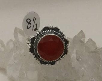 Dainty Carnelian Ring Size 8 1/2