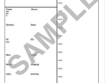 MED/SURG Report Sheet (days 0700-1900)
