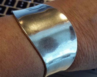 Sterling Modernist Cuff Bracelet Mexico