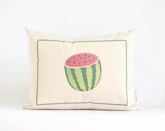 Watermelon Tropical Pillow, Kitchen Decor, Fruit, Watermelon Birthday Pillow, Watermelon Throw Pillow, Home Decor