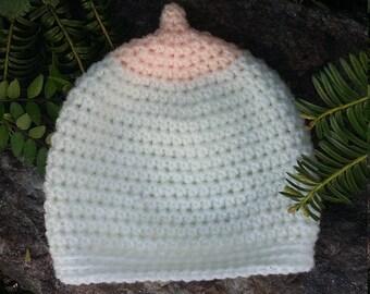 Crochet Baby Hat, Boobie Beanie, Breastfeeding Hat, Nursing Beanie, Crochet Hat, Newborn Gift, Boob Hat, Baby Hat, Baby Beanie