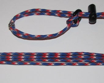 Red, White and Blue Bearded Dragon Small Animal Harness Leash