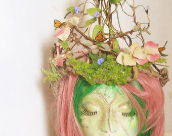 Fairy Twig Crown-24'' High 23'' Round~''Spring's Majesty''