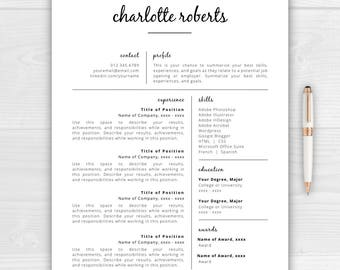 creative resume template resume for word pages resume template instant download cv