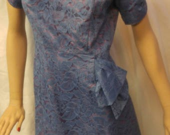 Vintage 1950's lace overlay dinner dress by SENSIBLY YOUNG FASHIONS size Medium