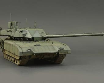 1/35 Russian T-14 Armata - Handmade/Collectible Scale Model