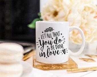 Positive Coffee Mug - Motivational Mug - Positive Vibes Mug - Mug with Scriptures - Positive Cups - Inspirational Coffee Mug with Quote