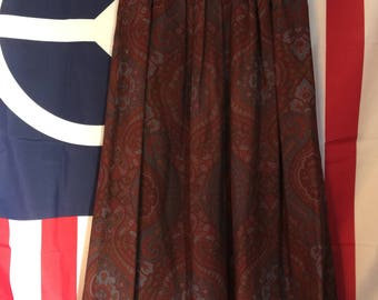 1970s I.Magin Paisley Midi Skirt
