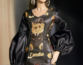 "Dress for fashion royalty , nuface , fr2 , fr1 , poppy parker , barbie doll , barbie silkstone doll , fashion doll 12 "" same size"
