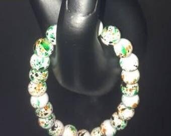 White Specs Bracelet
