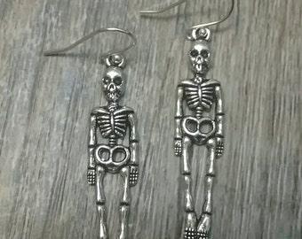 Human Skeleton Earrings