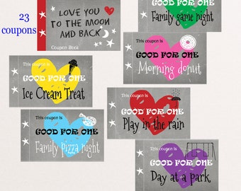 coupon book for kids love you to the moon and back set of 23
