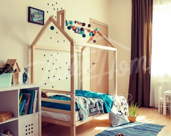Kids Bedroom House toddler bed house bed twin size frame bed montessori bed