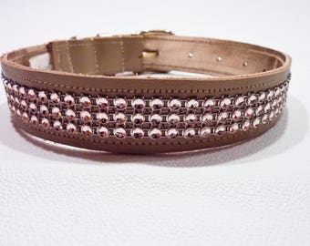 Dog collar / pink gold