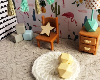 Modern dollhouse furniture, Modern miniature accessory, Miniature rug dollhouse flooring, 1 12 scale dollhouse furniture 1 6 scale furniture