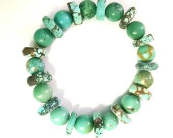 7 Inch Stretch Turquoise Bracelet