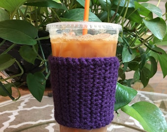 Crochet Coffee Sleeve - Crochet Coffee Cozy - Coffee Cozy - Coffee Gift - Coffee Cup Cozy - Reusable Coffee Sleeve