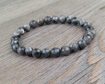 Labradorite stones bracelet faceted 6mm or 8mm