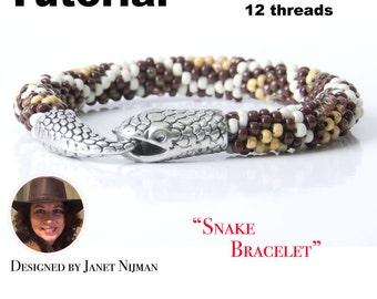 Kumihimo pattern tutorial 12 strands Snake Bracelet PDF