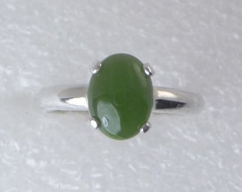 Jade Sterling Silver Ring by SmithSilver size 4