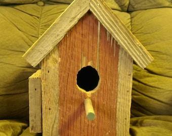 Reclaimed barn wood bird house