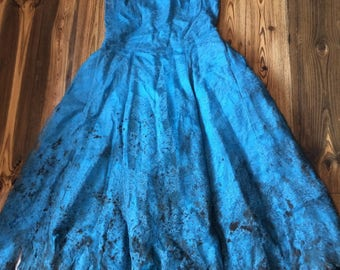 Vintage Blue 'Runaway Prom' Dress, UK 8-10
