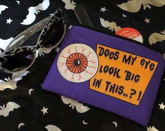 Eyeball Cosmetics Bag, Make Up Bag, Horror Purse, Gothic Gift, Rockabilly, Death Rocker, Gothic Bag, Horror Bag, Creepy Cute, Eyeball