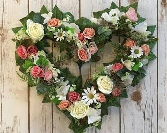 wedding gift, mothersday gift, heart wreath