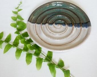 Handmade Soap Dish, Modern Pottery Ceramics, Home Decor, Ring Dish, Trinket Catchall Bowl, Housewarming, Anniversary Gift, Bridesmaid Gift
