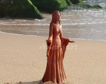 "The Great Mother Goddess, sea goddess, greeting card size 4,5""x6,5"" (11,5x16,5 cm)"