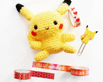 pikachu - pokemon - handmade crochet toy - amigurumi - cute doll