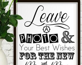 Photo Guest Book Sign, Photo Guest Book, Photo Guestbook Sign, Photo Guestbook, Photo Booth Props, Wedding Photo Booth Sign, Wedding Photo